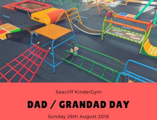 Seacliff KinderGym Dad and Grandad Day on Sunday 26th August 2018