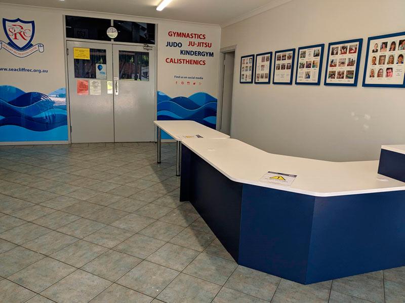 Seacliff Kindergym - reception area