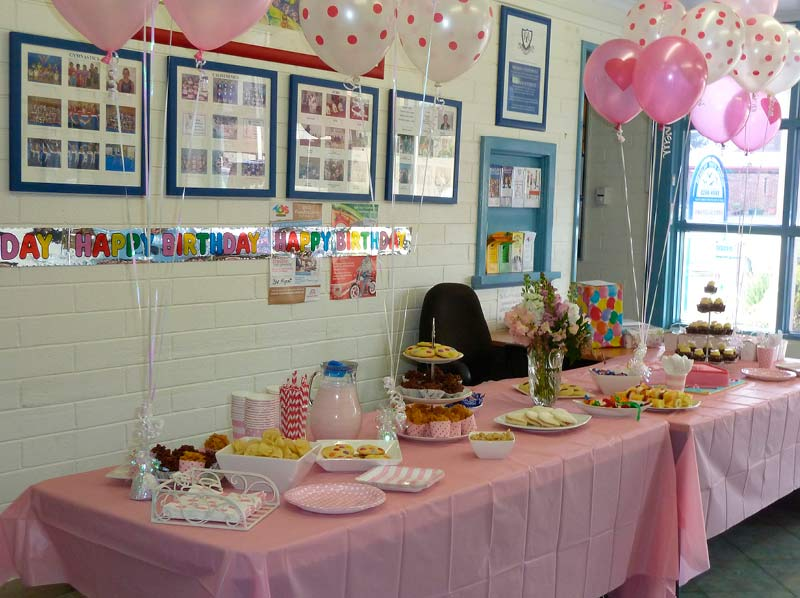 Seacliff Kindergym - party table
